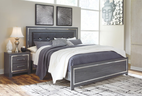 Lodanna Gray King Panel Bed