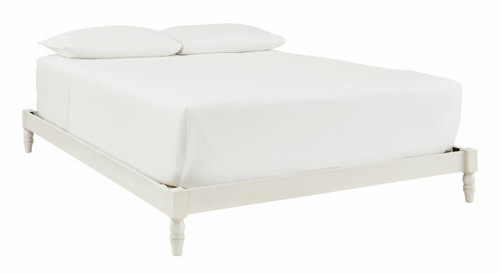 Tannally White King Platform Bed