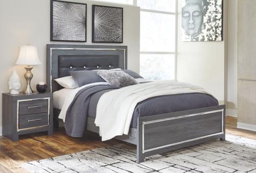 Lodanna Gray Queen Panel Bed
