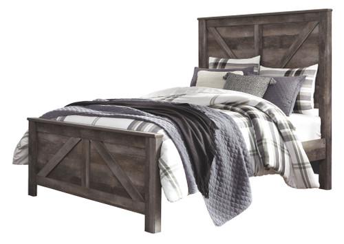 Wynnlow Gray Queen Crossbuck Panel Bed