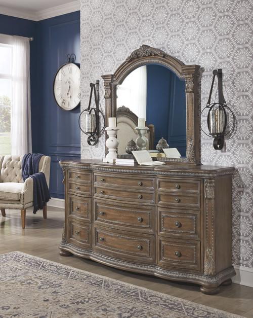 Charmond Brown Dresser & Mirror