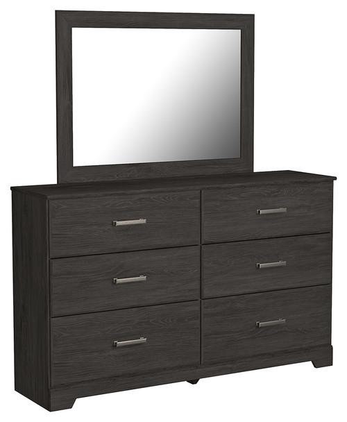 Belachime Black Dresser, Mirror
