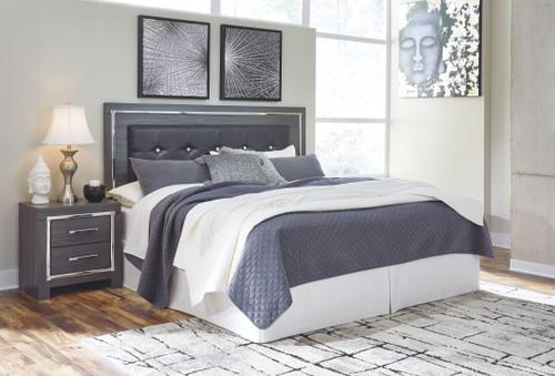 Lodanna Gray King/Cal King Upholstered Panel HDBD