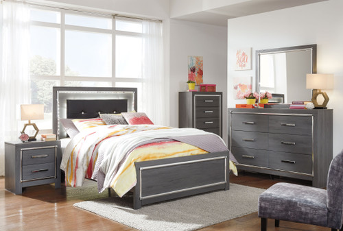 Lodanna Gray 5 Pc. Dresser, Mirror & Full Panel Bed