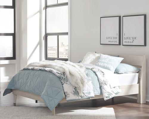 Socalle Natural Full Panel Platform Bed