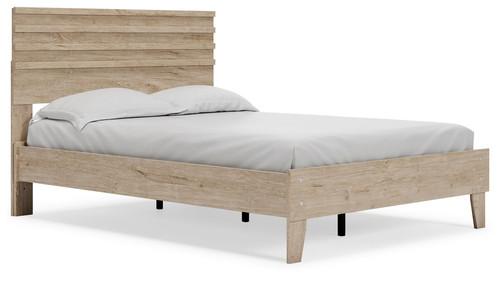 Oliah Natural Full Panel Platform Bed