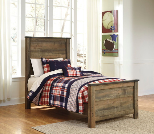 Trinell Brown Twin Panel Bed