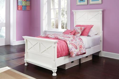 Kaslyn White Twin Panel Bed