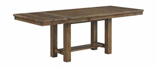 Moriville Grayish Brown Rectangular Dining Room Extension Table