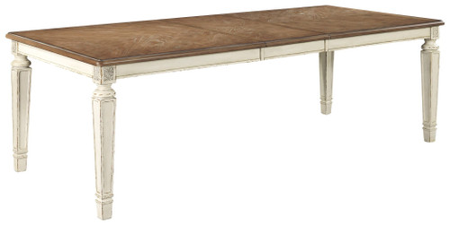 Realyn Chipped White Rectangular Dining Room Extension Table