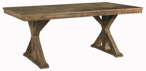 Grindleburg Light Brown Rectangular Dining Room Table
