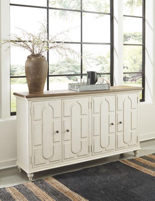 Roranville Antique White Accent Cabinet