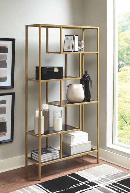 Frankwell Gold Finish Bookcase