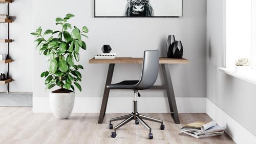 Arlenbry Gray Home Office Small Desk & Swivel Desk Chair