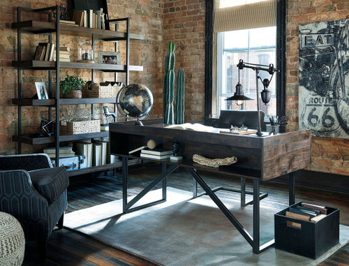 Starmore Brown Office Desk, Chair & Bookcase