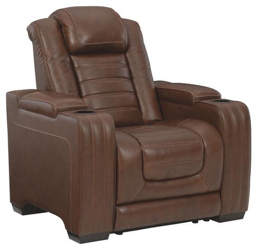Backtrack Chocolate Power Recliner/ADJ Headrest
