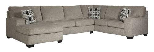 Ballinasloe Platinum LAF Corner Chaise, Armless Loveseat & RAF Sofa Sectional