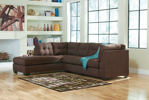 Maier Walnut Left Arm Facing Corner Chaise, Right Arm Facing Sofa Sectional