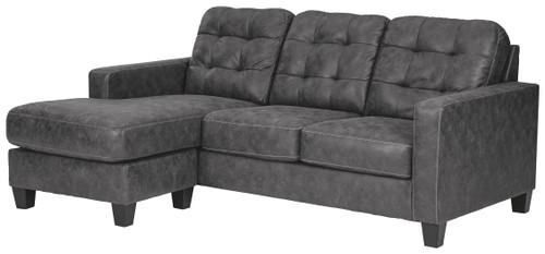 Venaldi Gunmetal Sofa Chaise Queen Sleeper