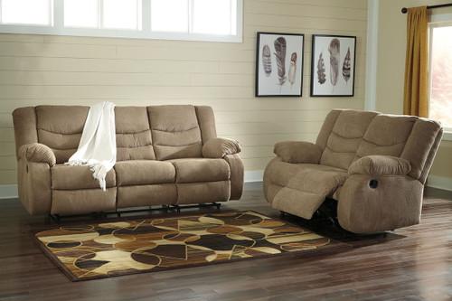 Tulen Mocha 2 Pc. Reclining Sofa, Reclining Loveseat