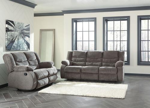 Tulen Gray 2 Pc. Reclining Sofa, Reclining Loveseat