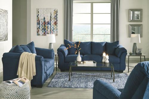 Darcy Blue 3 Pc. Sofa, Loveseat, Rocker Recliner