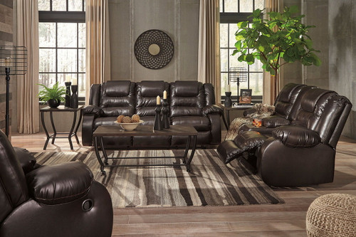 Vacherie Chocolate 3 Pc. Reclining Sofa, Double Reclining Loveseat with Console, Rocker Recliner