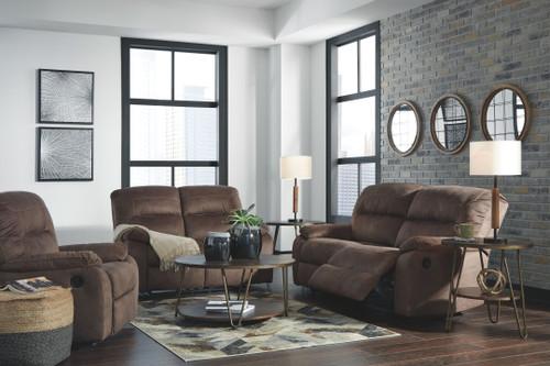 Bolzano Coffee 3 Pc. 2 Seat Reclining Sofa, Reclining Loveseat, Rocker Recliner