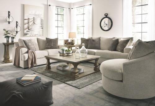 Soletren Stone 3 Pc. Sofa, Loveseat, Swivel Accent Chair