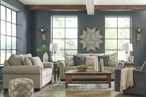 Zarina Jute 3 Pc. Sofa, Loveseat, Swivel Accent Chair