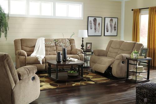 Tulen Mocha 3 Pc. Reclining Sofa, Reclining Loveseat, Rocker Recliner
