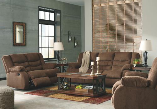 Tulen Chocolate 3 Pc. Reclining Sofa, Reclining Loveseat, Rocker Recliner