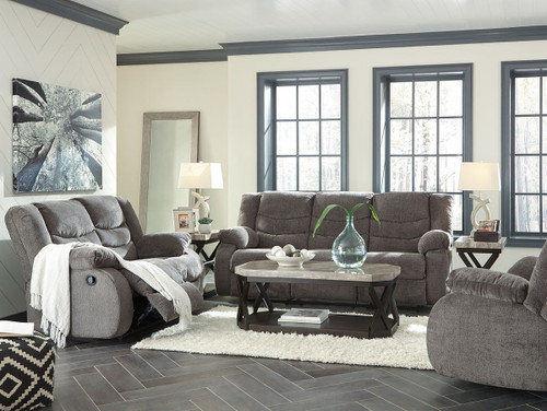 Tulen Gray 3 Pc. Reclining Sofa, Reclining Loveseat, Rocker Recliner