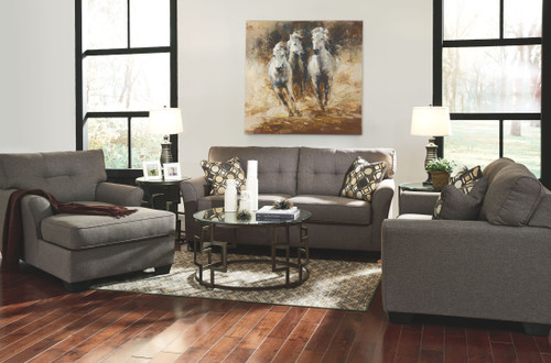 Tibbee Slate Sofa, Loveseat & Chaise