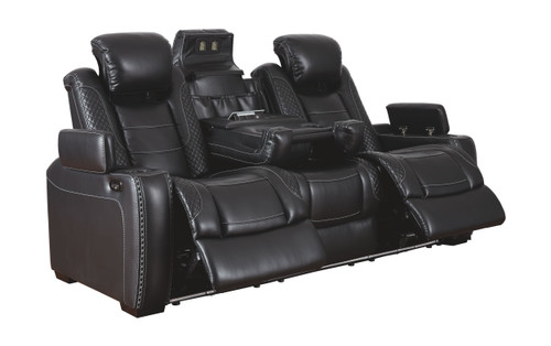 Party Time Midnight Power Reclining Sofa with ADJ Headrest