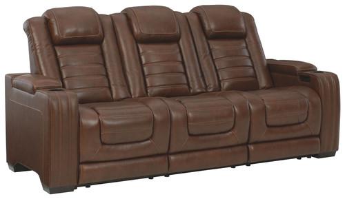 Backtrack Chocolate Power Reclining Sofa with ADJ Headrest
