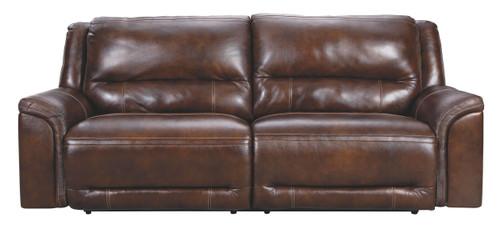 Catanzaro Mahogany 2 Seat Power Reclining Sofa ADJ HDREST