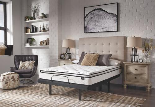 10 Inch Bonnell Pillow Top White 2 Pc. King Mattress, Adjustable Base