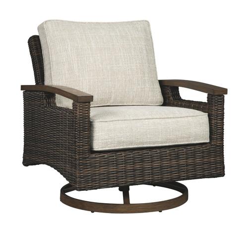 Paradise Trail Medium Brown Swivel Lounge Chair