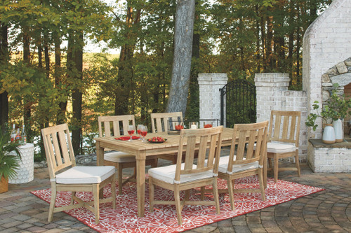 Clare View Beige 7 Pc. Dining Set with 6 Chairs