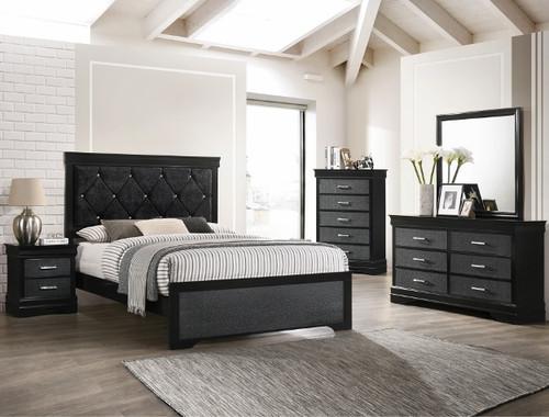 SETB6918 AMALIA BLACK BEDROOM (SETB6918 AMALIA BLACK BEDROOM)