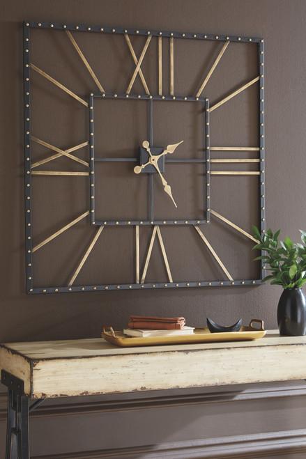 Thames Black/Gold Finish Wall Clock