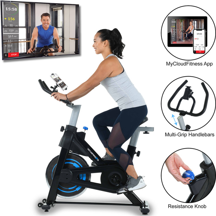 EXERPEUTIC  Indoor Cycling Bike with MyCloudFitness App