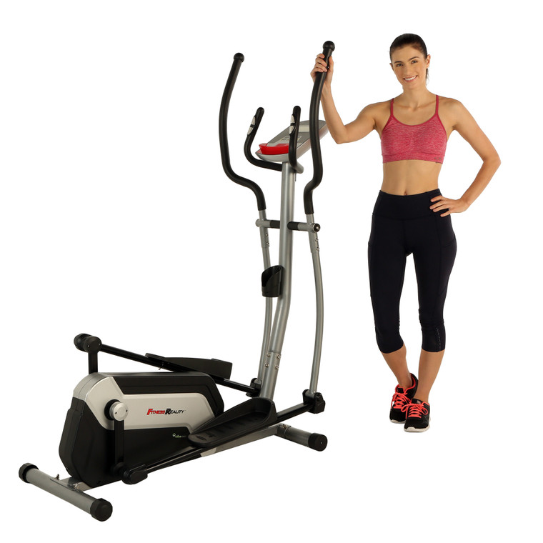 """FITNESS REALITY Ei7500XL Bluetooth Smart Cloud Fitness Magnetic Elliptical, 18"""" Stride, Goal Setting and Free App"""