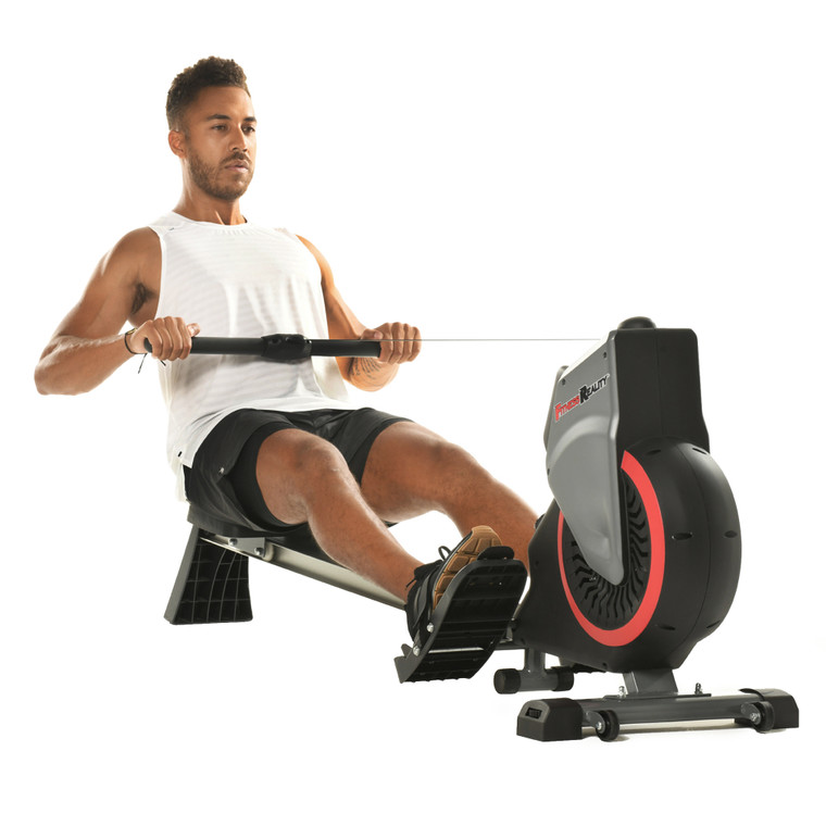 FITNESS REALITY Dual Transmission Fan Rower with MyCloudFitness App