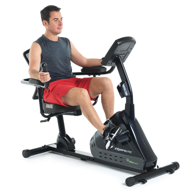 EXERPUETIC 5000 Bluetooth Magnetic Recumbent with Airsoft Seat and MyCloudFitness App