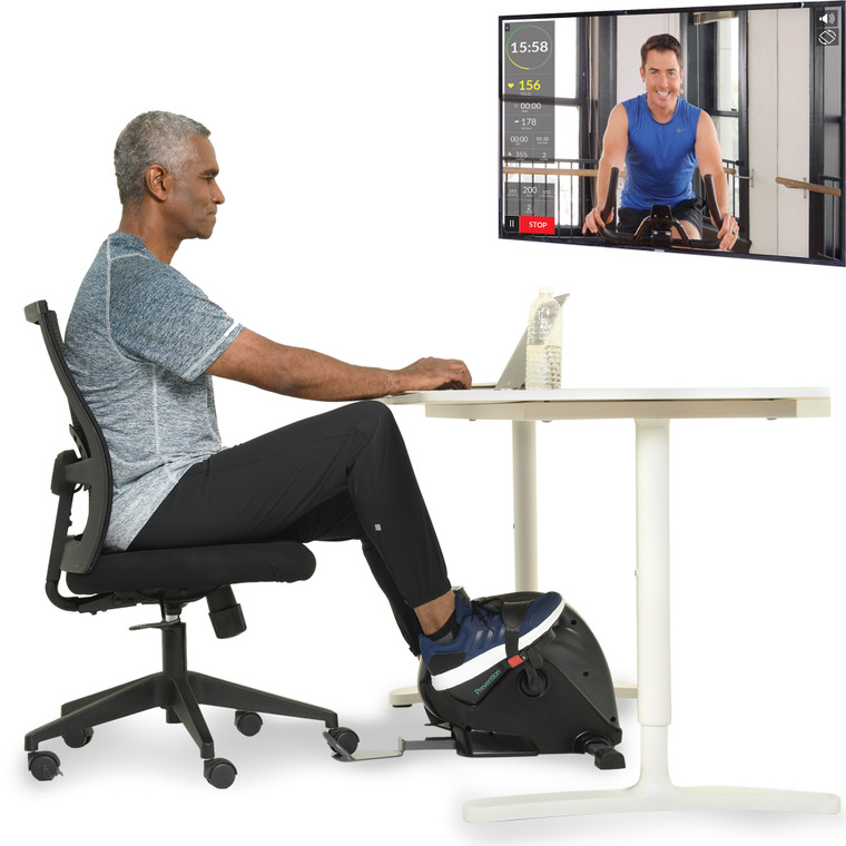 Prevention High Performance Under Desk Exercise Bike with Bluetooth Smart Cloud Fitness and Free APP