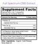 Full Spectrum CBD Supplement Facts Panel