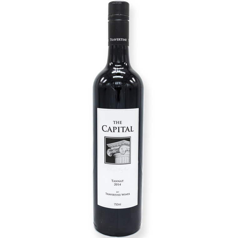 The Capital Tannat is a rich, deep purple in colour with ripe berry fruits, spice liquorice and mocha oak nose. The palate in this fine wine is juicy plums and raspberries and an intense charry tannin finish, over integrated spicy oak.   Per Bottle: Vol: 750mL ALC/VOL: 13.9% Standard Drink: 8.2