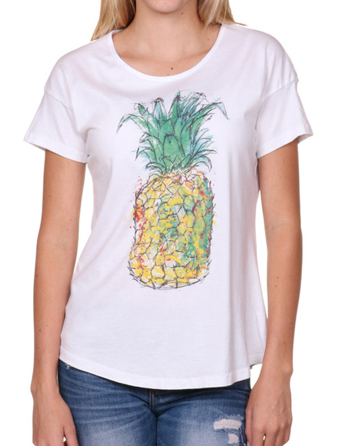 Women's-T-Shirt - Pineapple-Seashell-front
